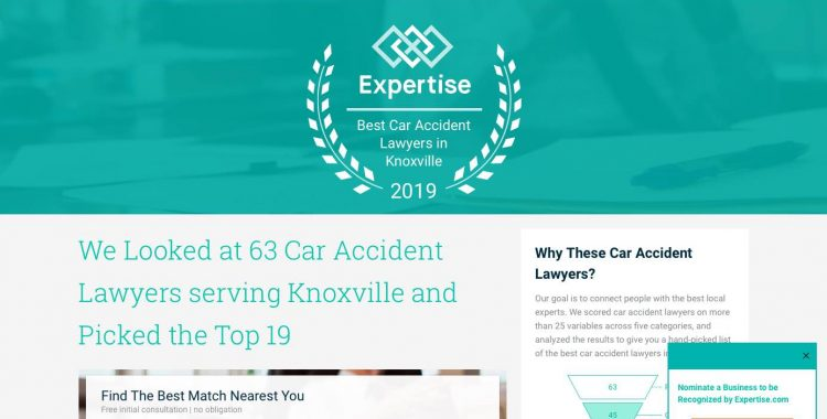 Garza Law Picked A Top Car Accident Attorney In Knoxville